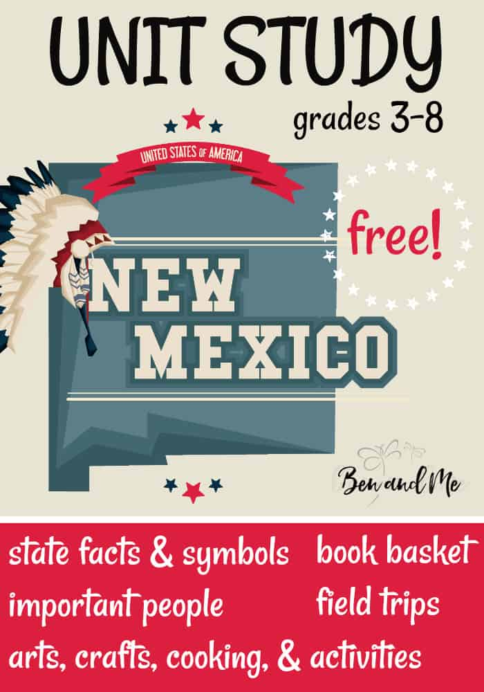 FREE New Mexico Unit Study for grades 3-8 -- learn about the