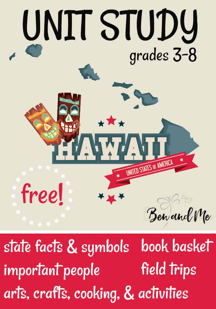 FREE Hawaii Unit Study for grades 3-8 -- learn about the