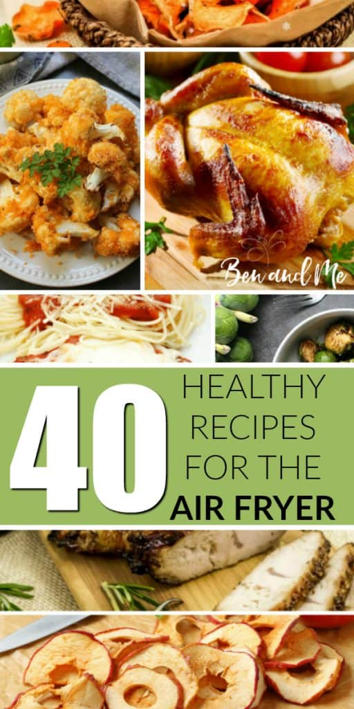 The air fryer saves time, is less messy than other cooking methods, and fries with little or no oil! If you're wondering where to get started, here are 40 healthy air fryer recipes to help.#recipes #airfryer #airfryerrecipes #healthyrecipes #airfryermeals