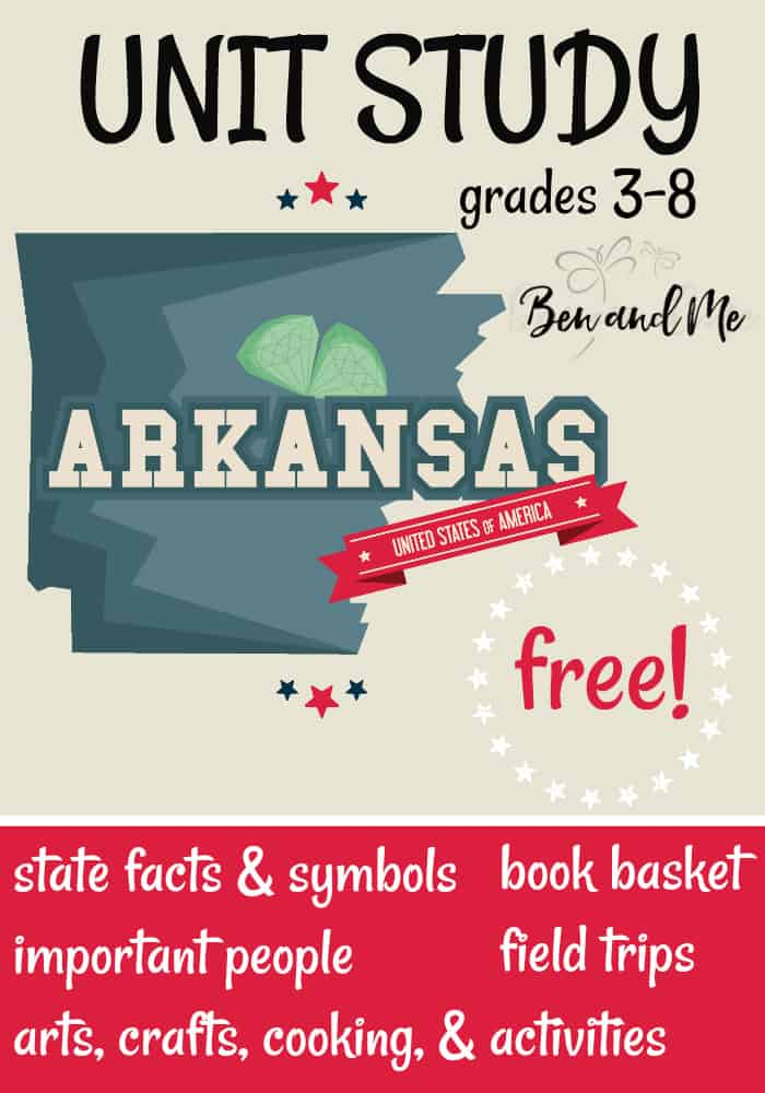 FREE Arkansas Unit Study for grades 3-8 -- learn about the