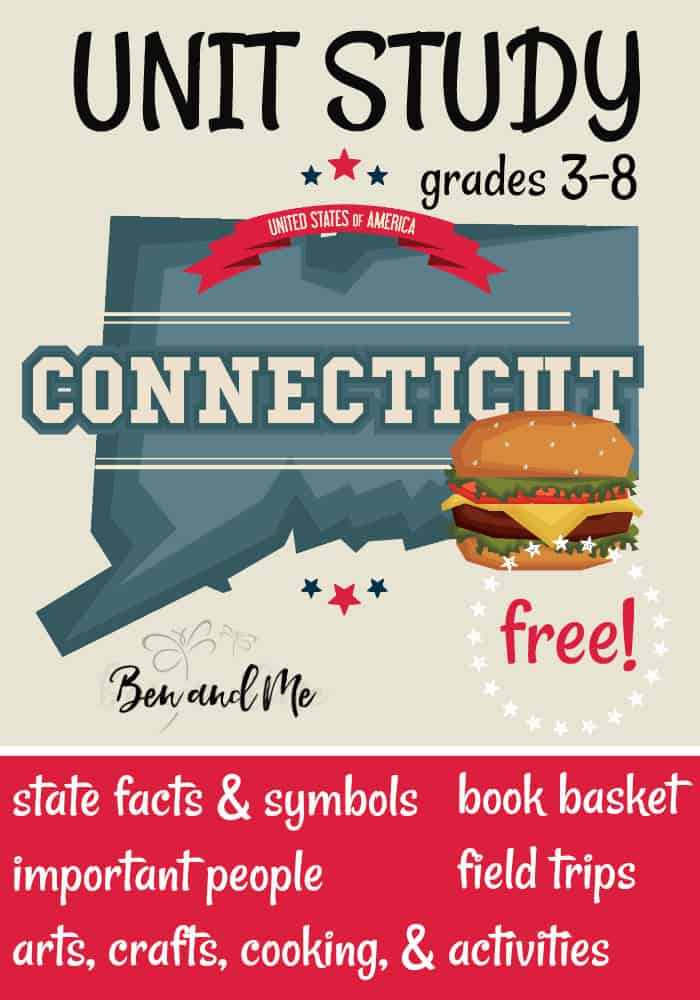 FREE Connecticut Unit Study for grades 3-8 -- learn about the