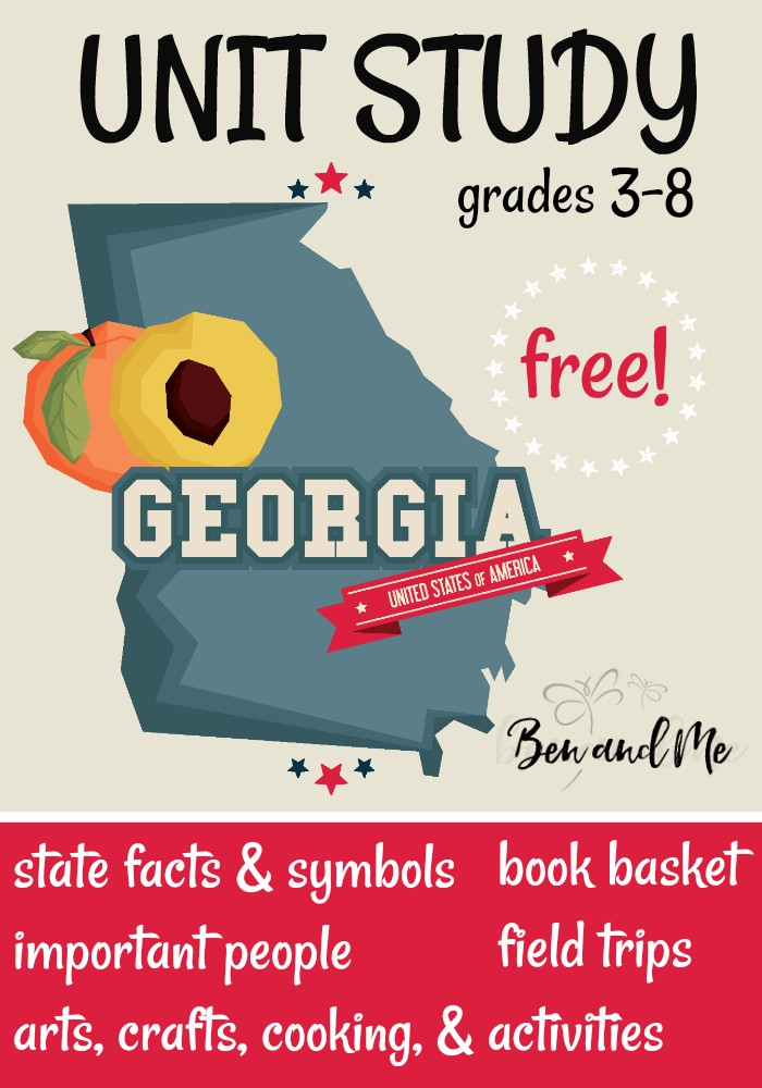 FREE Georgia Unit Study for grades 3-8 -- learn about the