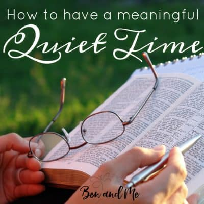 Time Well Spent: how to have a meaningful quiet time