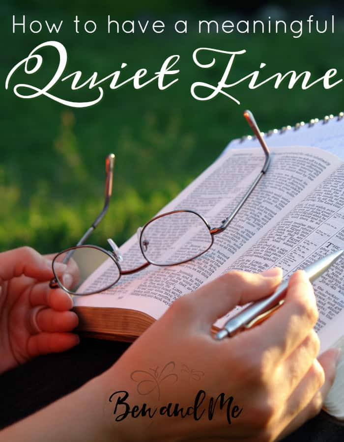 Are you struggling in your quiet time? He is so good to remind me of what I've done in the past that has helped me get back into His word and in fellowship with Him. Here are a few ideas that may help you on your way to a more meaningful quiet time as well.