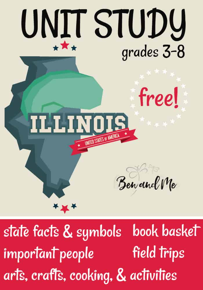 FREE Illinois Unit Study for grades 3-8 -- learn about the