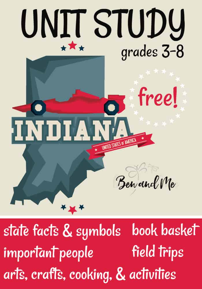 FREE Indiana Unit Study for grades 3-8 -- learn about the