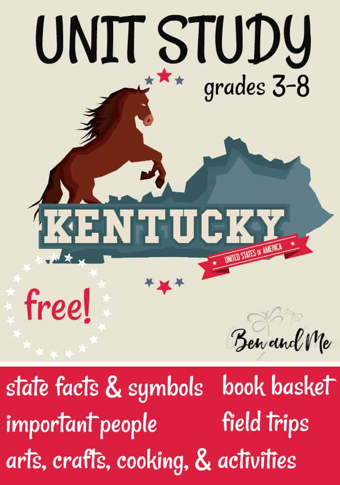 FREE Kentucky Unit Study for grades 3-8 -- learn about the