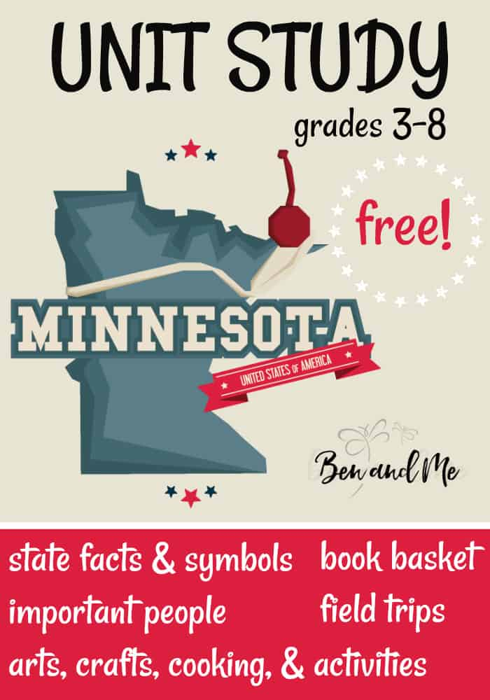 FREE Minnesota Unit Study for grades 3-8 -- learn about the