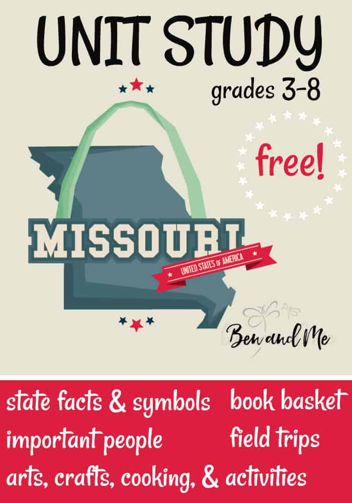 FREE Missouri Unit Study for grades 3-8 -- learn about the