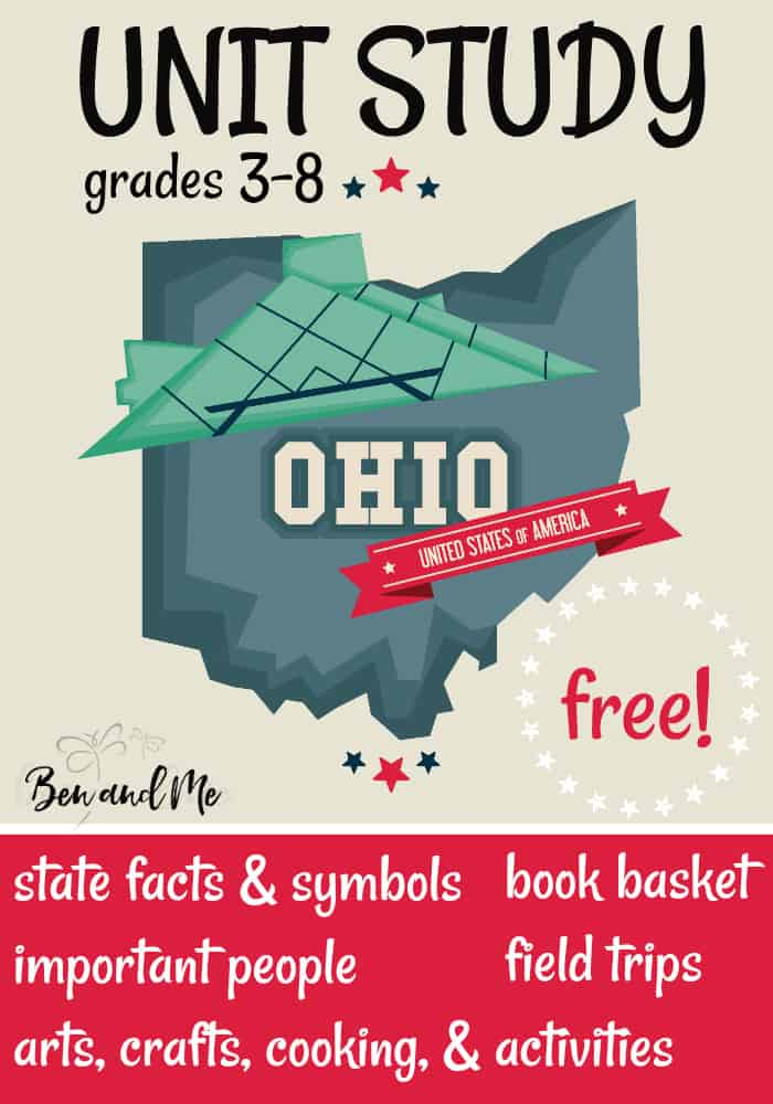 FREE Ohio Unit Study for grades 3-8 -- learn about the