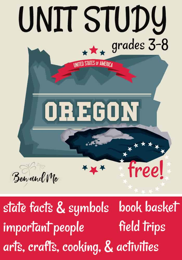 FREE Oregon Unit Study for grades 3-8 -- learn about the