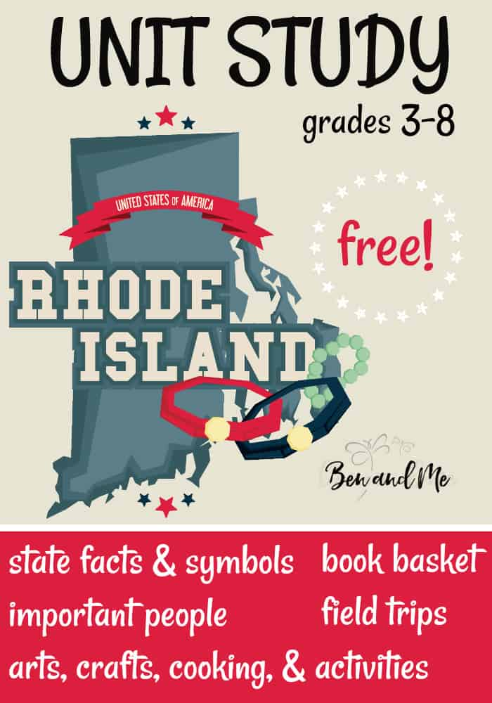 FREE Rhode Island Unit Study for grades 3-8 -- learn about the