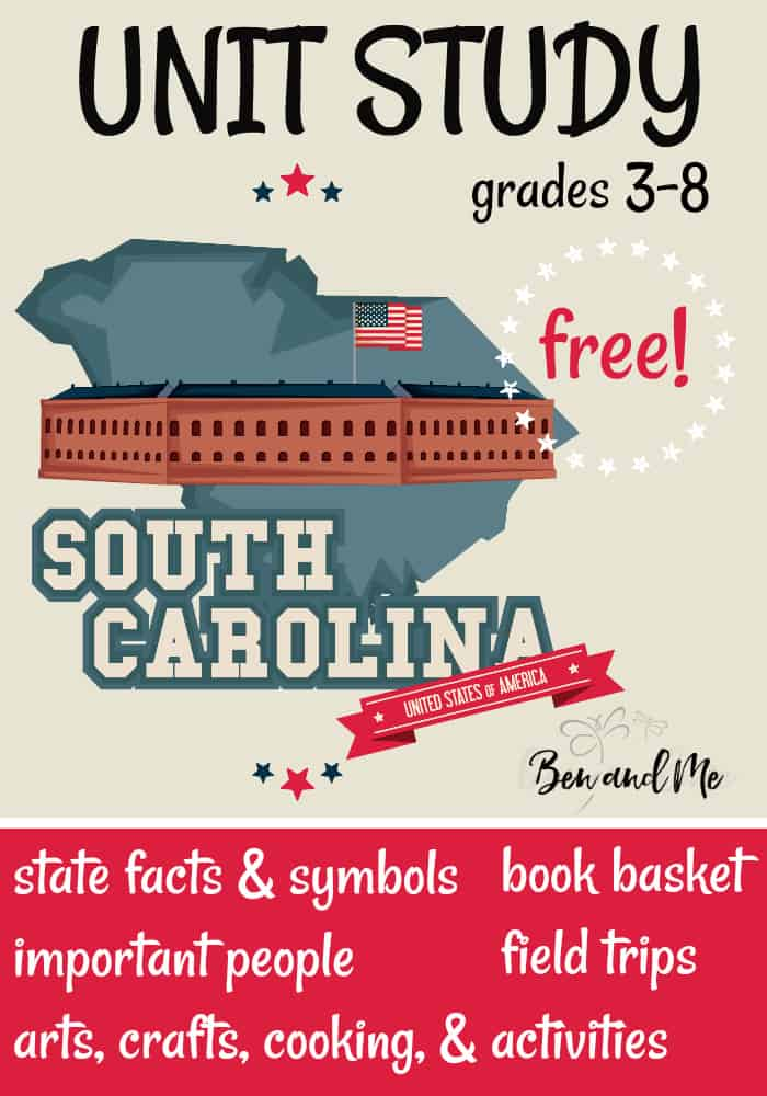FREE South Carolina Unit Study for grades 3-8 -- learn about the