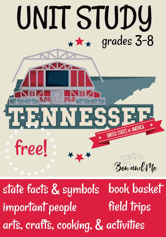 FREE Tennessee Unit Study for grades 3-8 -- learn about the