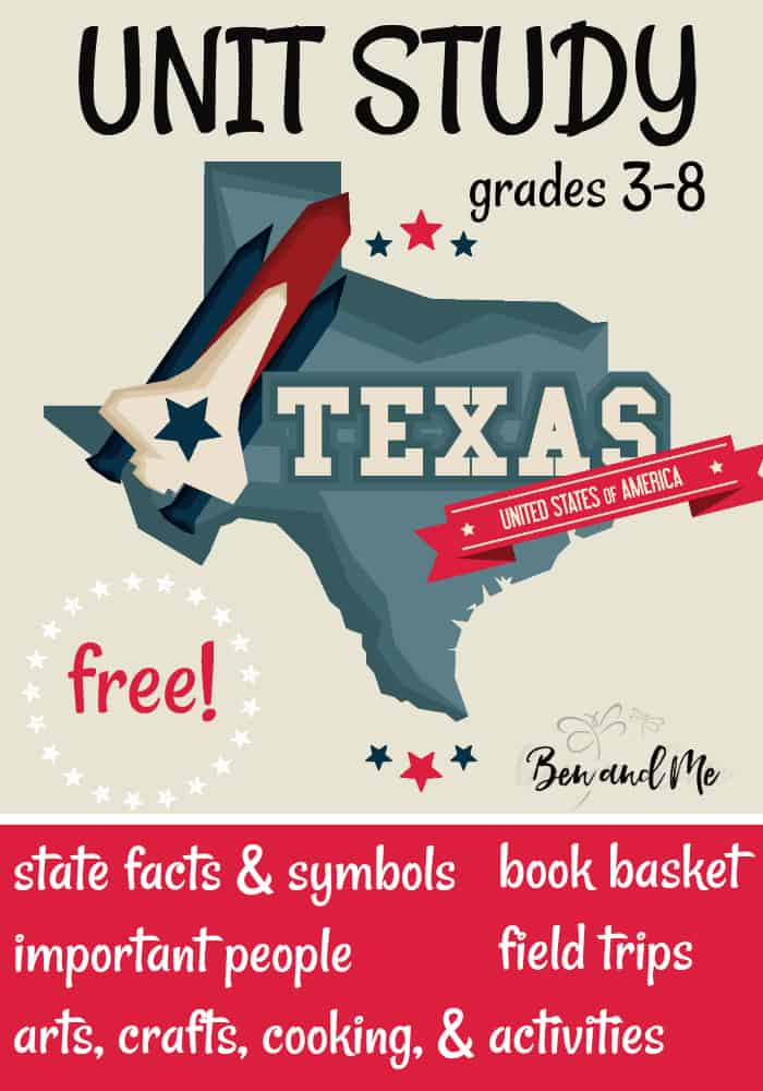 FREE Texas Unit Study for grades 3-8 -- learn about the