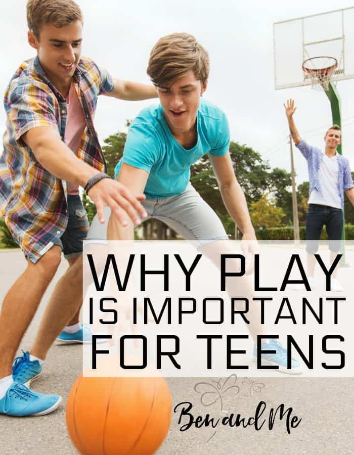 It's not a hard sell when I tell you to allow your young children to play more. Most of you breathe a sigh of relief and go to the park. But what if I gave you similar advice for your teens? How would you react to that? Learn why play is important in the teen years, too!