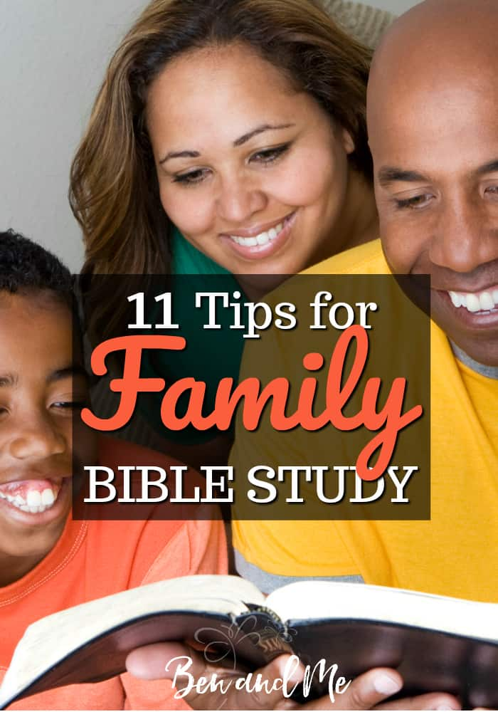 While we can't survey our futures, we can increase our faith in God as we survey the Bible. So, buckle up because we're going to take a tour of 11 tips for family Bible study. #biblestudy #familybible