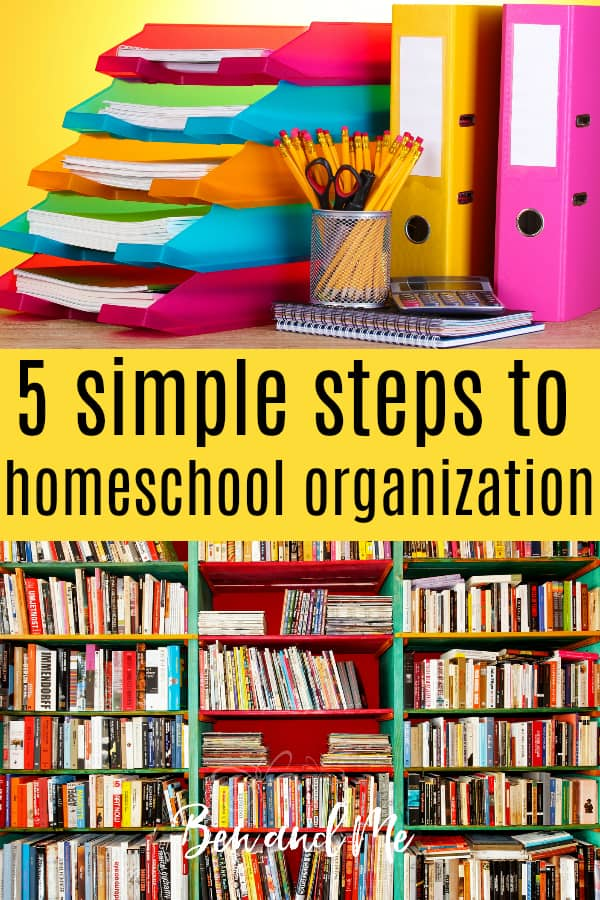 Whether you are about to start homeschooling or are a homeschool supermom, these simple steps to homeschool organization will help you have a successful homeschool year. #homeschool #homeschooling #homeschoolorganizaation #starthomeschooling