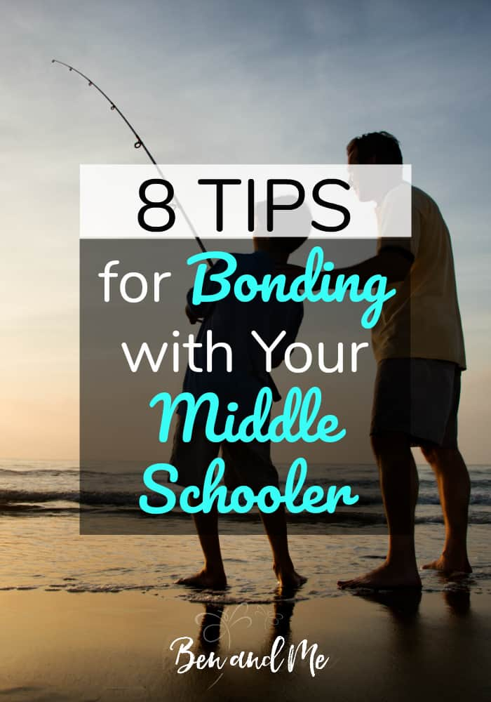 Bonding with your middle schooler can be a challenge, but it's so important. Bonding helps you become the person your child comes to when they need help or when faced with a difficult decision. #parenting