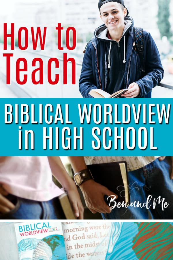 If you are a homeschool parent, you have even more opportunity than most to instill a biblical worldview into your teens In addition to using homeschool curriculum for science, history, and other subjects that have a strong biblical worldview foundation, we are using Biblical Worldview: Creation, Fall, Redemption from #BJUPress Homeschool to help my teen son understand exactly what it means to live a life with a biblical worldview. #homeschool #homeschoolcurriculum