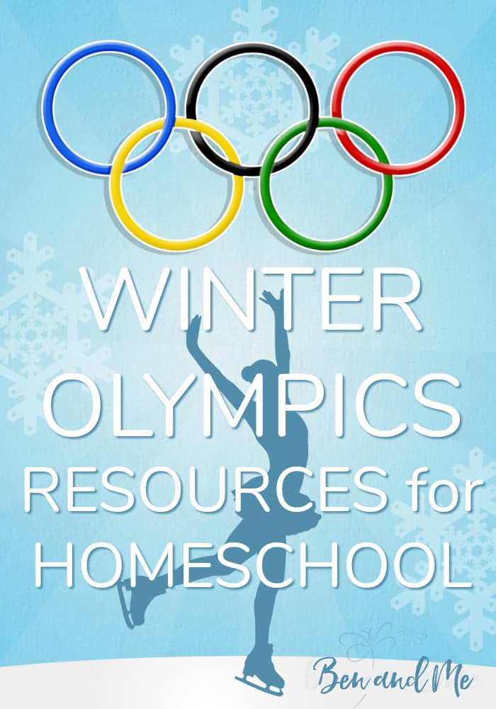 Feel free to use these winter olympics resources to create your own unit study. Or simply pick through a few activities and tack them onto your days leading up to and during the Winter Olympics. #homeschool #homeschooling