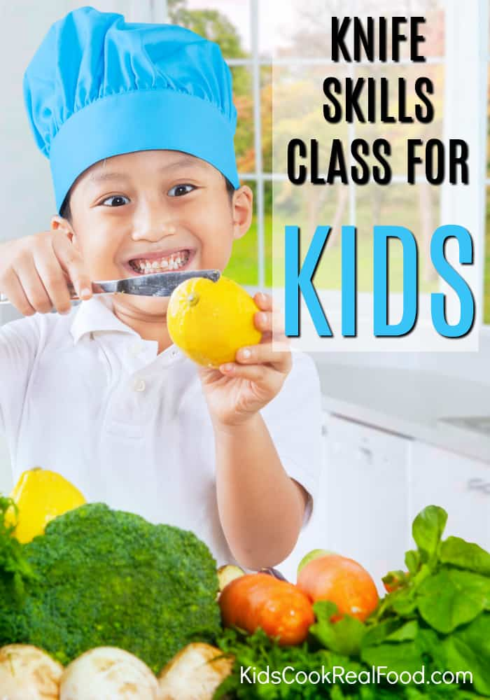 Of the many things kids need to learn in the kitchen, proper knife skills can be the scariest to teach. Kids Cook Real Food is offering my readers a great deal of 65% off the on the Knife Skills Class. That makes this class just $7 (reg. $20) and is a great way to convince yourself of the high quality of these courses before diving in completely.  #kidscook #cookingwithkids #kidsinthekitchen