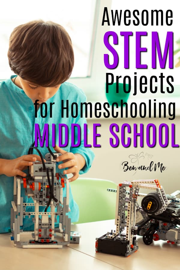 Add some major fun to your homeschool with these STEM projects for middle school! Teens thrive on project-based learning so why not include some of these projects in your student's curriculum. #homeschool #STEM #homeschoolmiddleschool #homeschoolscience #projectbasedlearning