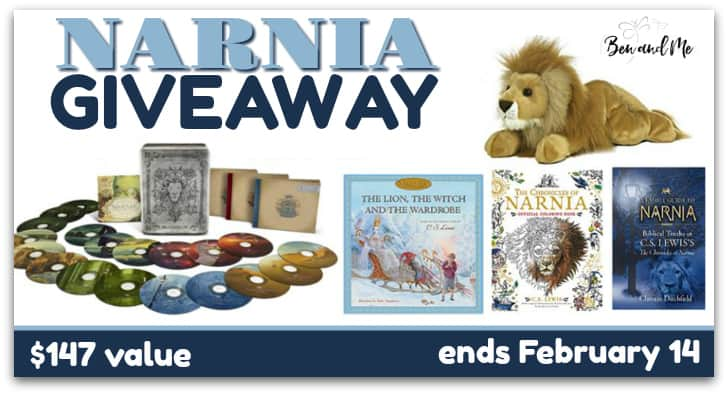 Narnia Giveaway Because I love Narnia and love giveaways, I'm partnering with a few of my blogging friends to offer a lovely Narnia giveaway. One winner will win this Narnia prize bundle valued at $147.