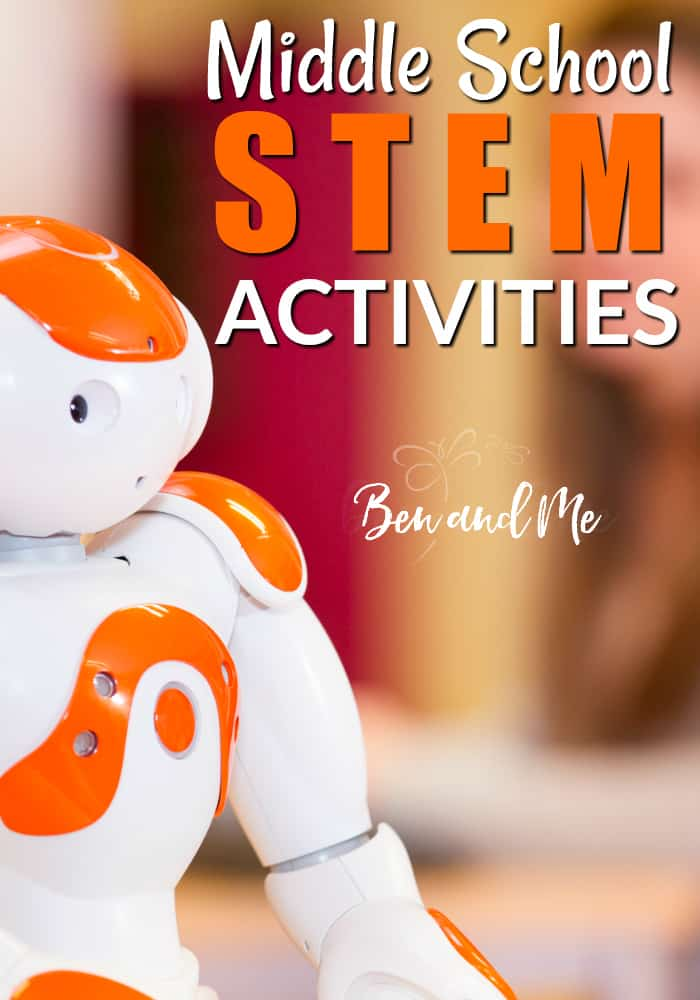 STEM stands for Science, Technology, Engineering, and Math and it's really useful to include this in your student's curriculum. Here are some STEM activities for middle school. #homeschool #STEM #science #math