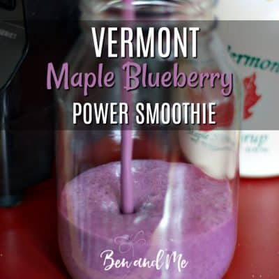 Vermont Maple Blueberry Power Smoothie Recipe