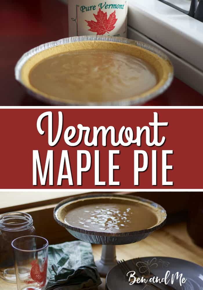After a long day of sugaring, it's nice to come home to this Vermont Maple Pie, a good warm cup of hot cocoa, and dinner in the oven. #maplepie #pierecipes #recipes #maplesyrupreciipes