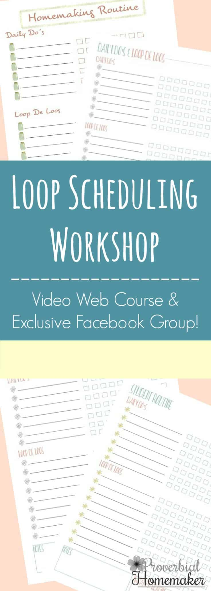 The Loop Scheduling Workshop & Facebook Support Group provides a fantastic toolbox to help you implement loop scheduling in your home and homeschool for a more flexible and productive year! #homeschoolmom #homeschooling #homeschooltools #howtohomeschool