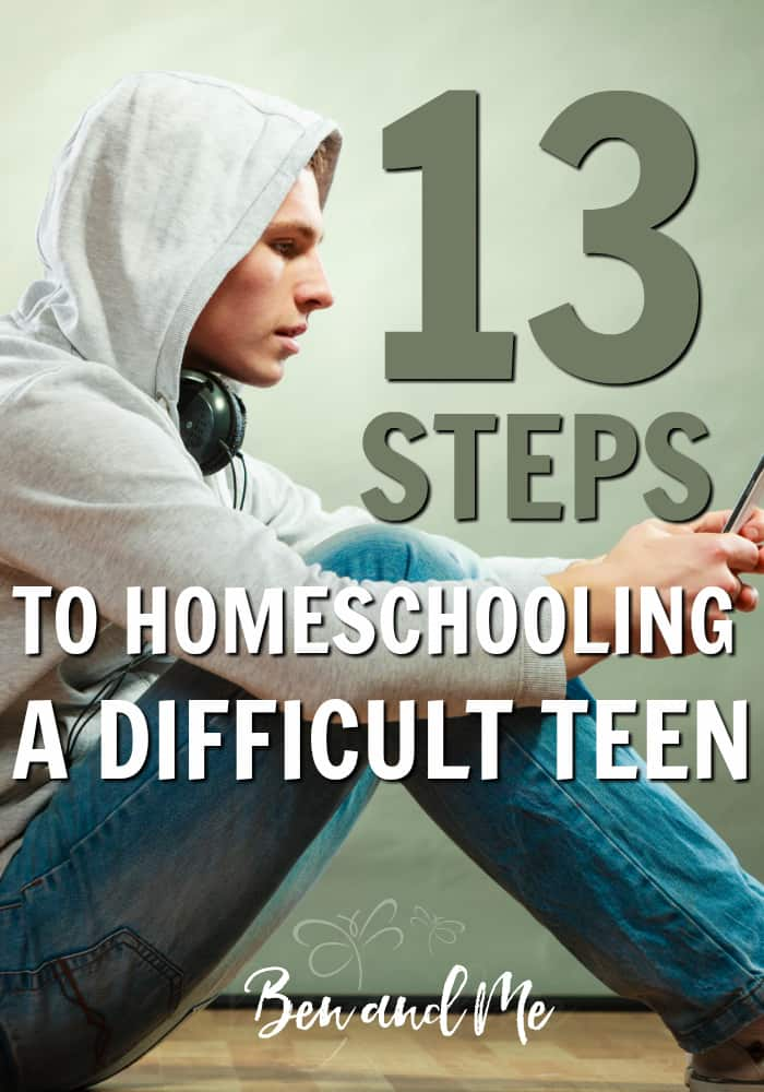 Homeschooling a difficult teen through high school can be a perfect option according to an academic advisor who has worked with homeschool teens and families for decades. Having walked through the process with lots of difficult teens, here are some helpful tips she has for you. #homeschool #homeschooling #highschool #teens