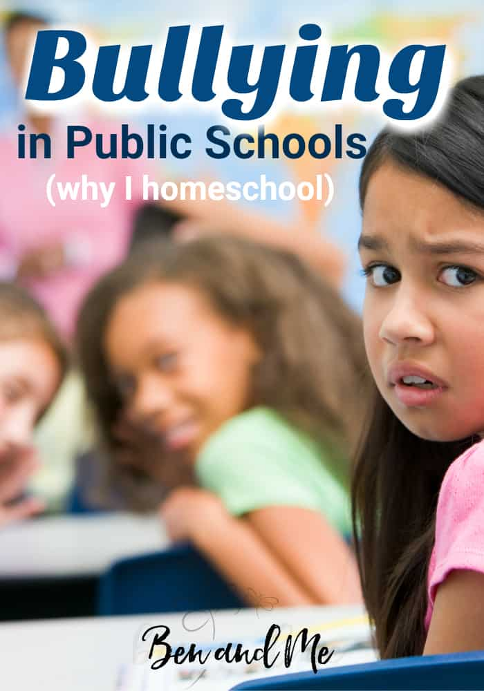 It's not the only reason we homeschool. but I can definitely say with certainty I homeschool because bullying in public schools is out of control. #homeschool #whyhomeschool #bullying #publicschools