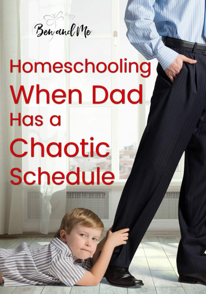 My husband's job is challenging. On any given day, we don't know what time he'll arrive home from work, work doesn't always stop once he walks in the door, and travel is frequent and required. Homeschooling frees up our time to be able to adjust to my husband's sporadic and chaotic schedule. #homeschool #homeschooling #whyhomeschool
