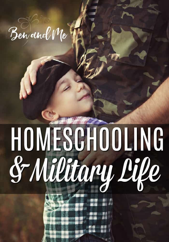 Many military families choose to homeschool as a way to balance the needs of their children with military life. Here are just a few reasons to homeschool if you are a military family.  #homeschool #homeschooling #militarylife