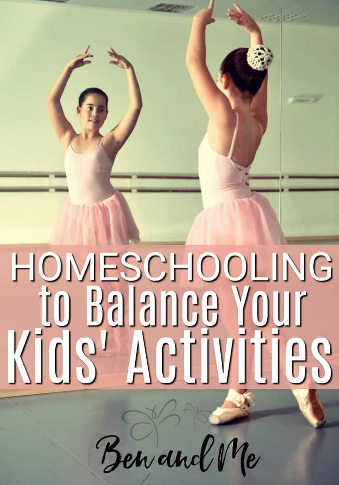 Homeschooling to Balance Your Kids' Activities -- this mom of a gymnast and ballerina shares how homeschooling helped balance her kids' busy schedules. #homeschool #homeschooling #whyhomeschool