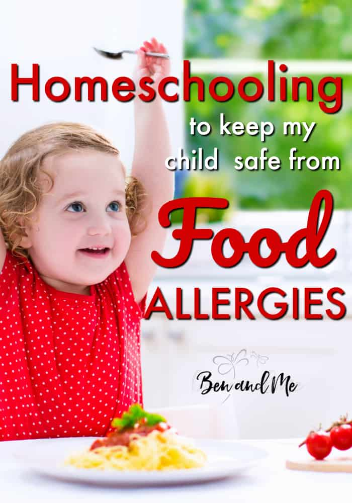 Severe allergies are a threat to many children. #Homeschooling is just one practical way to keep a child safe from food allergies. #homeschool #foodallergies
