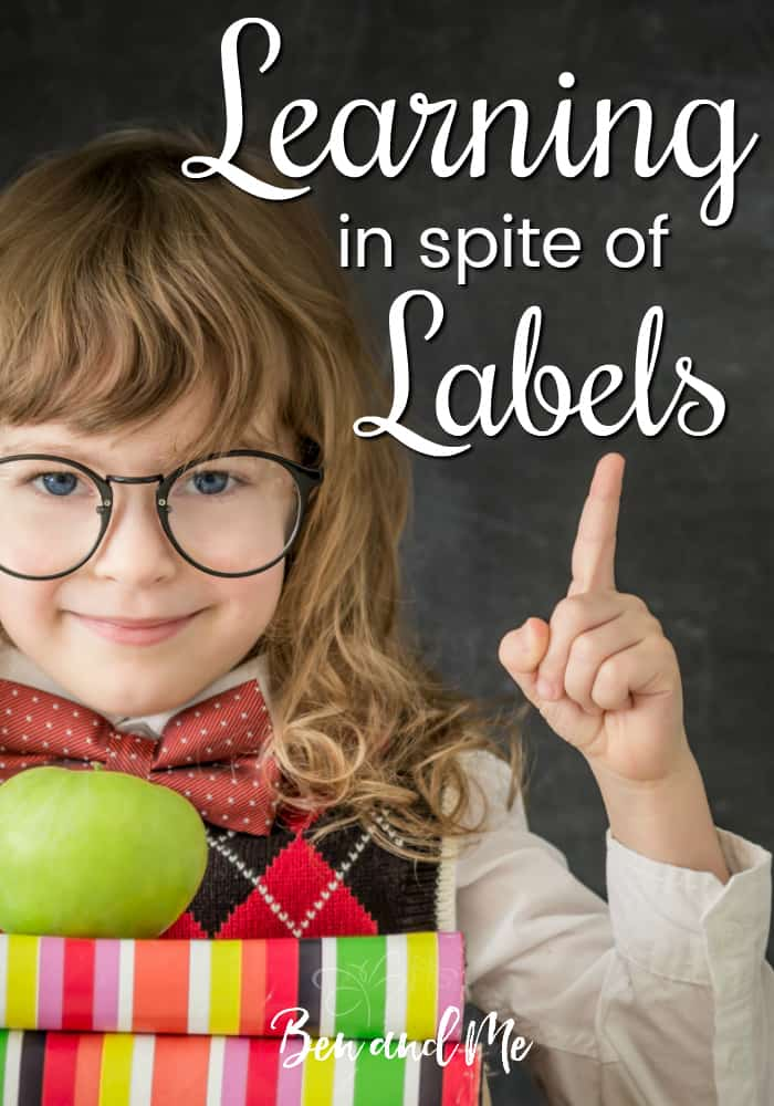 Are you concerned the labels placed on your child is stifling his learning? #Homeschooling may be your answer! Your child can learn in spite of labels! #homeschool #2E #labeling #whyhomeschool
