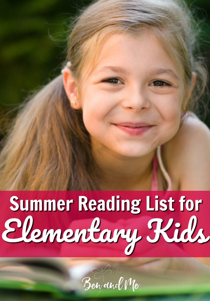 A useful list of chapter books you can use to create your own summer reading list for your elementary-aged kids. The books on this list are timeless and I think should be read by or read aloud to every child.  #readinglist #summerreading #mustread #homeschool #homeschooling