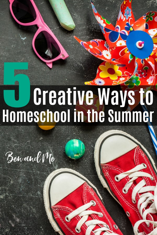 Whether or not you always homeschool in the summer or not, there are creative ways to keep your children learning. #homeschool #howtohomeschool #starthomeschooling #summerschool #homeschooling