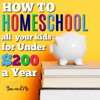 How to Homeschool ALL Your Kids for Under $200 a Year
