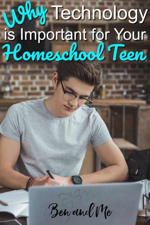 From online homeschool classes to building job skills, there are many reasons parents should not hold their teens back from using technology in the homeschool. #homeschool #homeschooltechnology #technology #homeschooling #hsmommas
