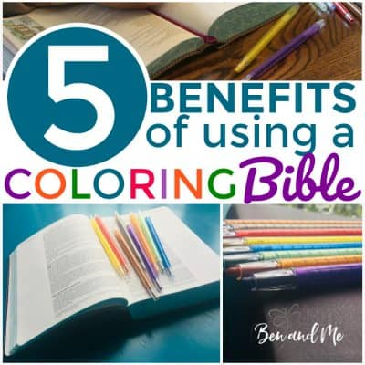 5 Benefits  of Using a Coloring Bible
