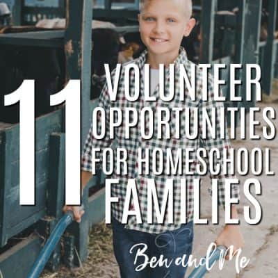 11 Volunteer Opportunities for Homeschool Families