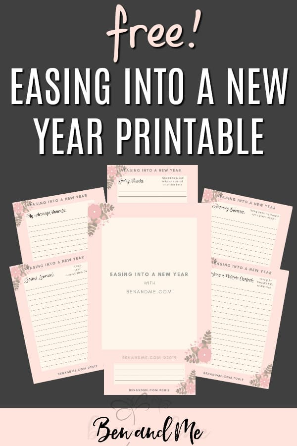 I hope you find this Easing Into a New Year free printable beneficial for your personal growth. You can use it toevaluate your homeschool and make needed changes. Or you can use it for your personal goals and growth. #newyeargoals #newyearresolutions #homeschoolmom #homeschool #homeschooling #goalsetting