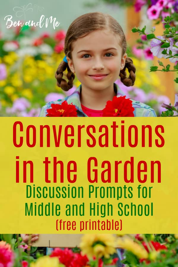 Gardening with your middle and high school students provides many opportunities to share more about the Master Gardener. Use these discussion prompts to help your teens make these connections. Includes a free printable to help guide the conversation. #parentingteens #conversationstarters #christianparents #christianparenting #parentingtips #freeprintables
