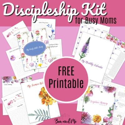 Personal Discipleship for Busy Moms (free printable)