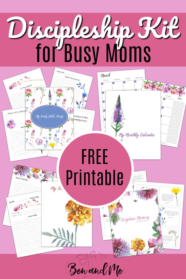 FREE! Discipleship Kit for Busy Moms Moms are busy, but we should never be too busy to make our personal discipleship a priority. I've created a few helpful tools to make it a little easier for you. This free printable Discipleship Kit for Busy Moms includes 4 tools for you to print and use as you wish. #freeprintables #discipleship #busymoms #thebusymom #biblestudy #sermonnotes