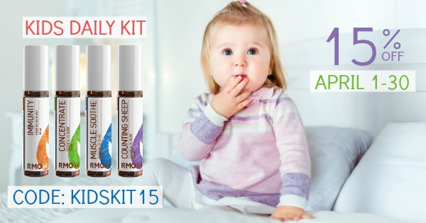 A roller bottle is a great quick way to blend and apply essential oils on your child. It's simple to mix a few basic blends to have on hand, or you can purchase some already diluted and specially blended for children. For the month of April, you can get a 15% discount on the Kids Daily Kit if you click on the link below and use the code: KIDSKIT15 through April 30, 2019. #aromatherapy #essentialoils